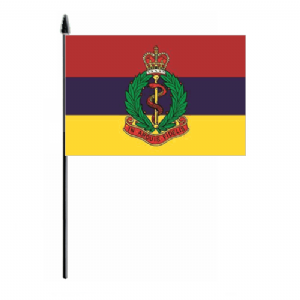 Army Medical Corps Hand Flag - Medium